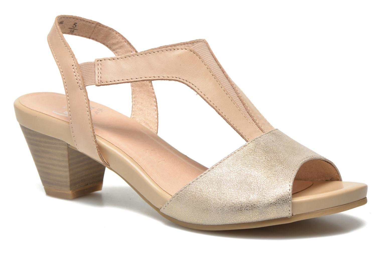 Sandales et nu-pieds Caprice Comoca Beige vue détail/paire