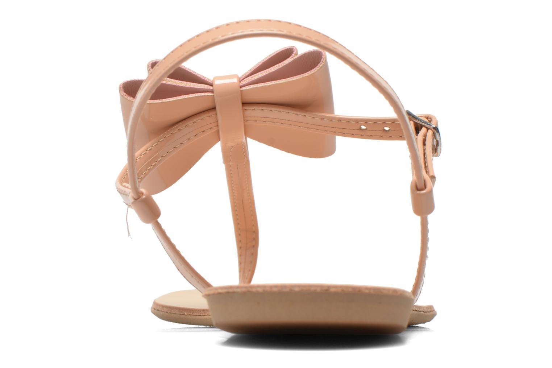 Sandales et nu-pieds I Love Shoes Donoeud Beige vue droite