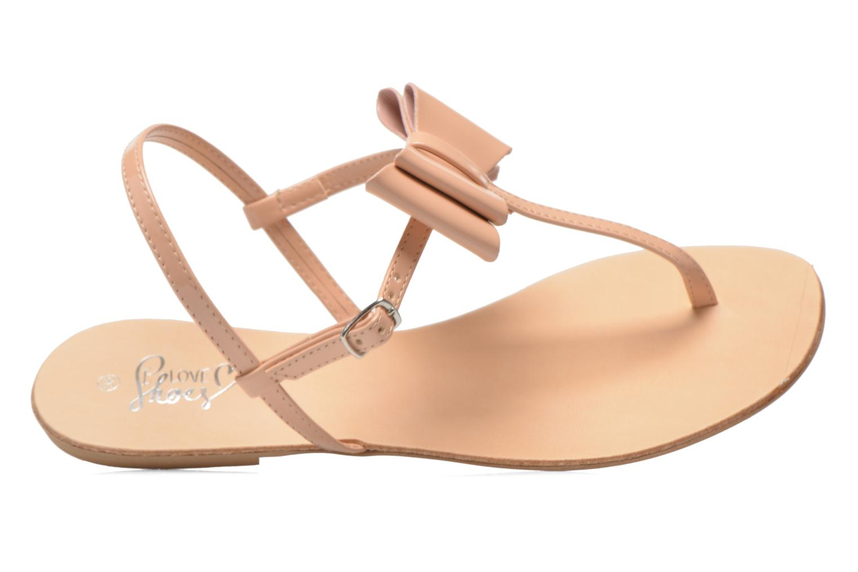 Sandales et nu-pieds I Love Shoes Donoeud Beige vue gauche
