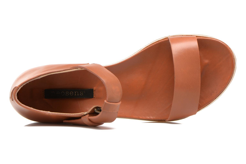 Sandalen Neosens Cortese S502 braun ansicht von links