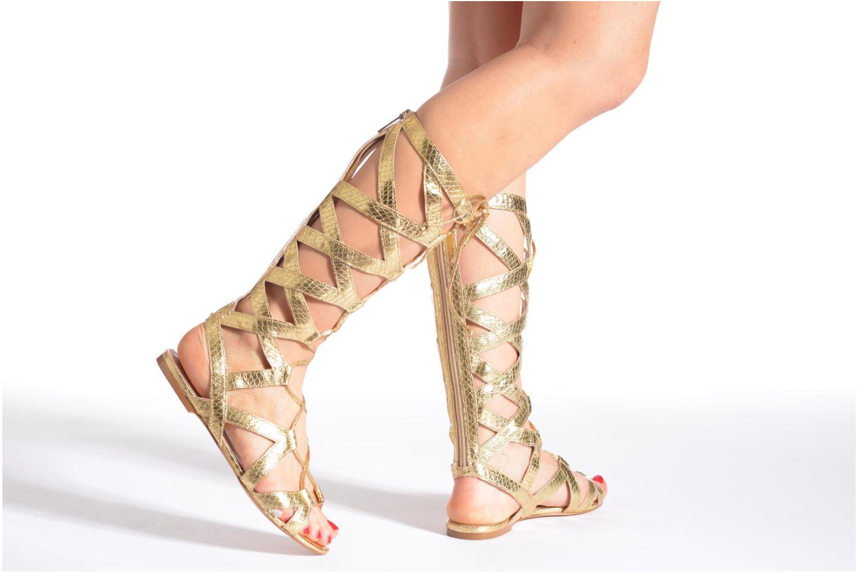 Sandales et nu-pieds Liu Jo Minerve gladiator Or et bronze vue bas / vue portée sac