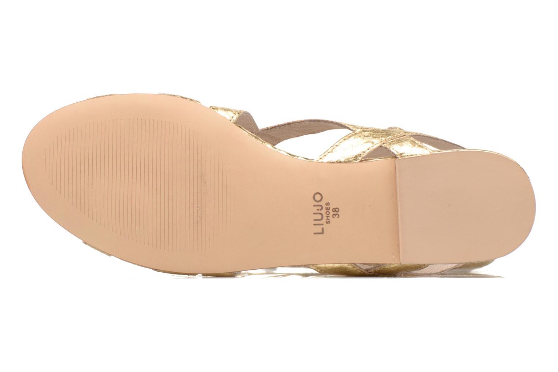 Sandales et nu-pieds Liu Jo Minerve gladiator Or et bronze vue haut