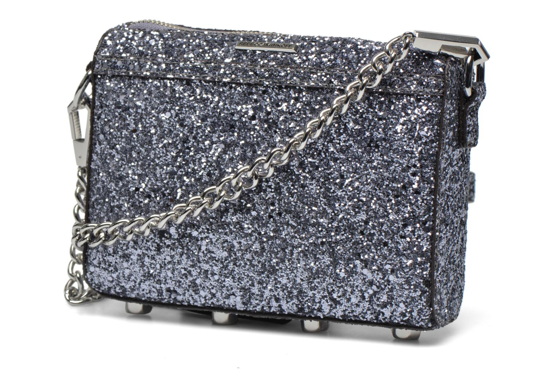 Håndtasker Rebecca Minkoff Micro MAC Sølv se forfra