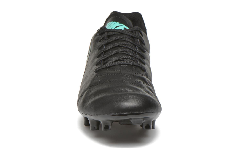 Sportschuhe Nike Tiempo Genio II Leather Fg schwarz schuhe getragen