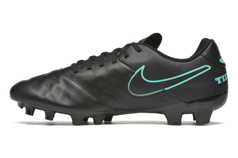 Sportschuhe Nike Tiempo Genio II Leather Fg schwarz ansicht von vorne