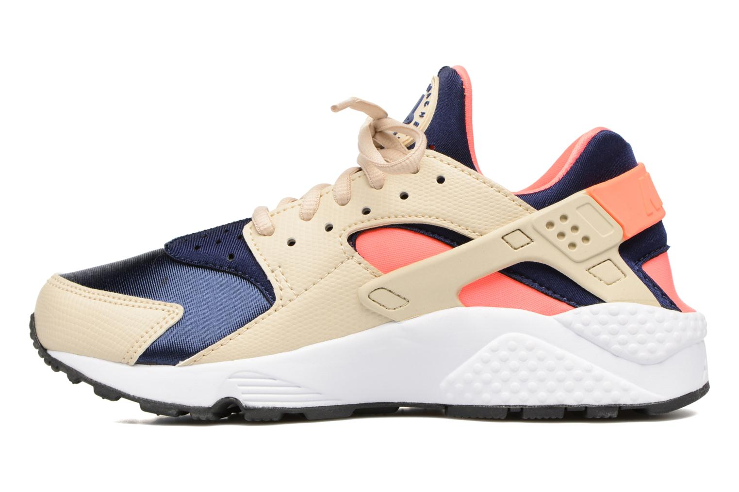 Wmns Air Huarache Run Oatmeal/Binary Blue-Lava Glow-Black
