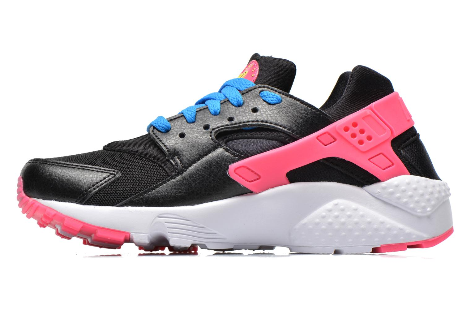 Nike Huarache Run (Gs) Black/Volt-Pink Pow-Photo Blue