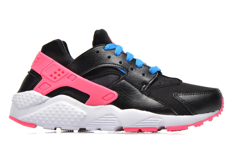 Nike Huarache Run (Gs) Black/Volt-Pink Pow-Photo Blue