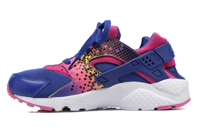 Sneakers Nike Nike Huarache Run Print (Gs) Lila bild från framsidan