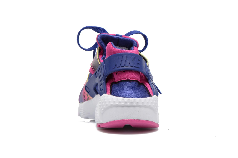 Sneakers Nike Nike Huarache Run Print (Gs) Lila Bild från höger sidan
