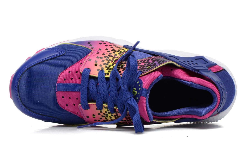 Sneakers Nike Nike Huarache Run Print (Gs) Lila bild från vänster sidan