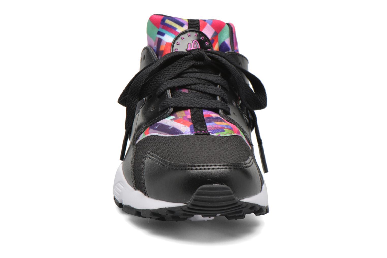 Sneaker Nike Nike Huarache Run Print (Gs) schwarz schuhe getragen
