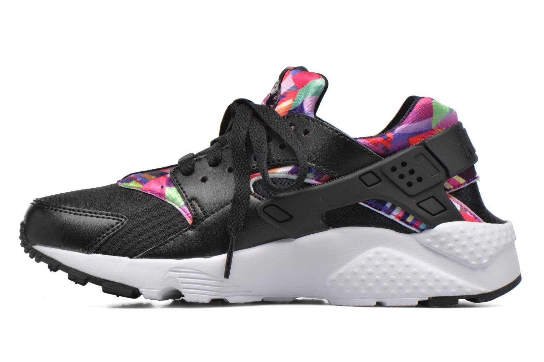 Nike Huarache Run Print (Gs) Black/Black-Hyper Violet-Hyper Violet