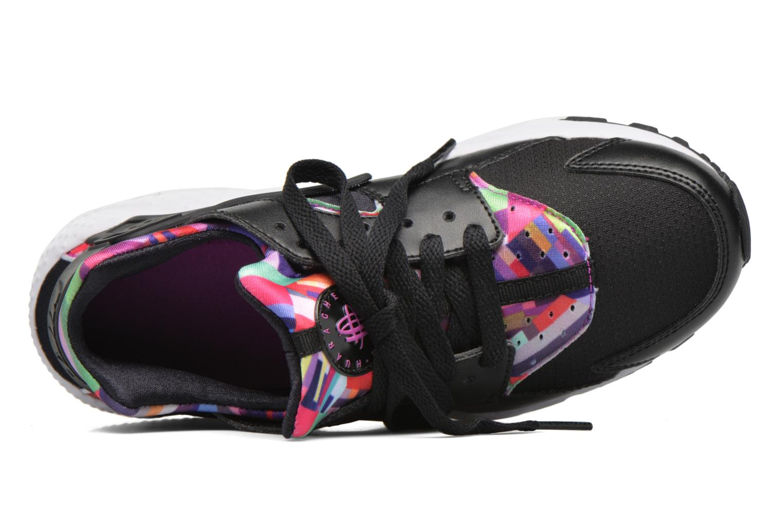 Sneaker Nike Nike Huarache Run Print (Gs) schwarz ansicht von links