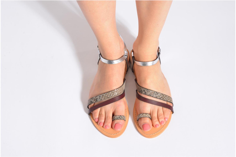 Sandalen Petite mendigote Formentera mehrfarbig ansicht von unten / tasche getragen