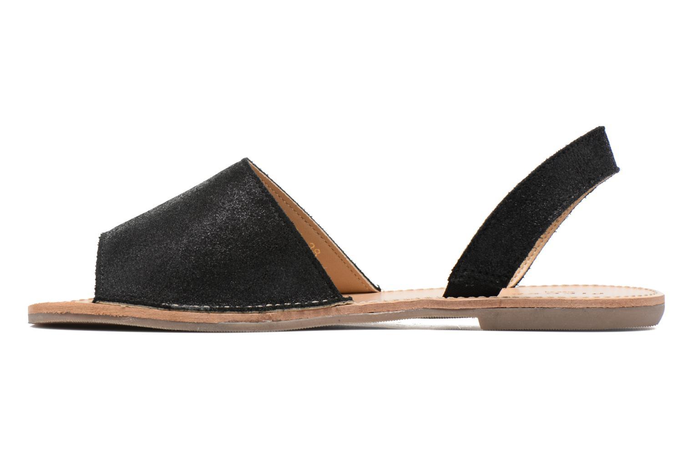 Sandales et nu-pieds Pieces Psevey Noir vue face