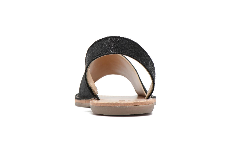 Sandales et nu-pieds Pieces Psevey Noir vue droite