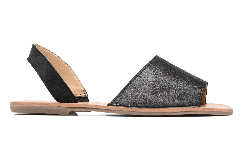 Sandales et nu-pieds Pieces Psevey Noir vue derrière