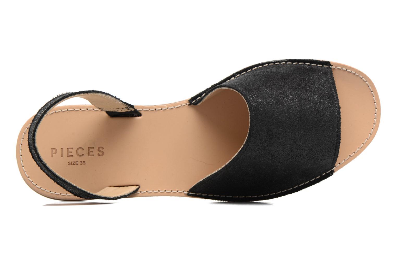 Sandales et nu-pieds Pieces Psevey Noir vue gauche