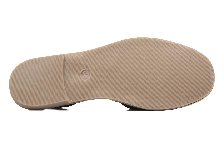 Sandales et nu-pieds Pieces Psevey Noir vue haut