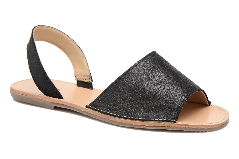 Sandales et nu-pieds Pieces Psevey Noir vue détail/paire