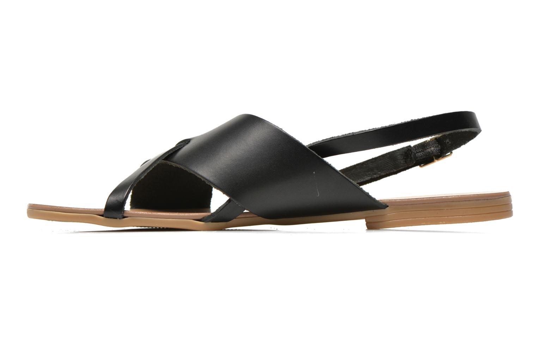 Sandales et nu-pieds Pieces Psjoyce Noir vue face