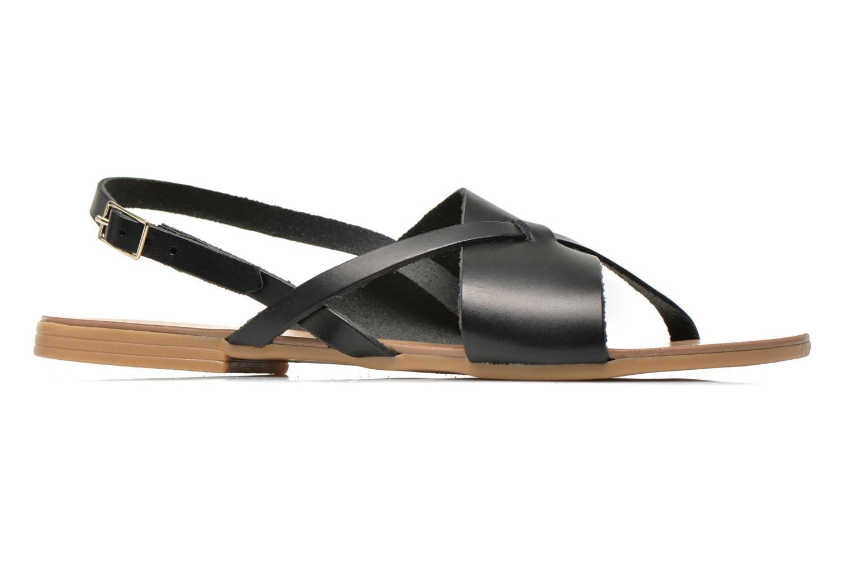 Sandales et nu-pieds Pieces Psjoyce Noir vue derrière