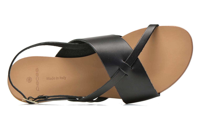 Sandales et nu-pieds Pieces Psjoyce Noir vue gauche