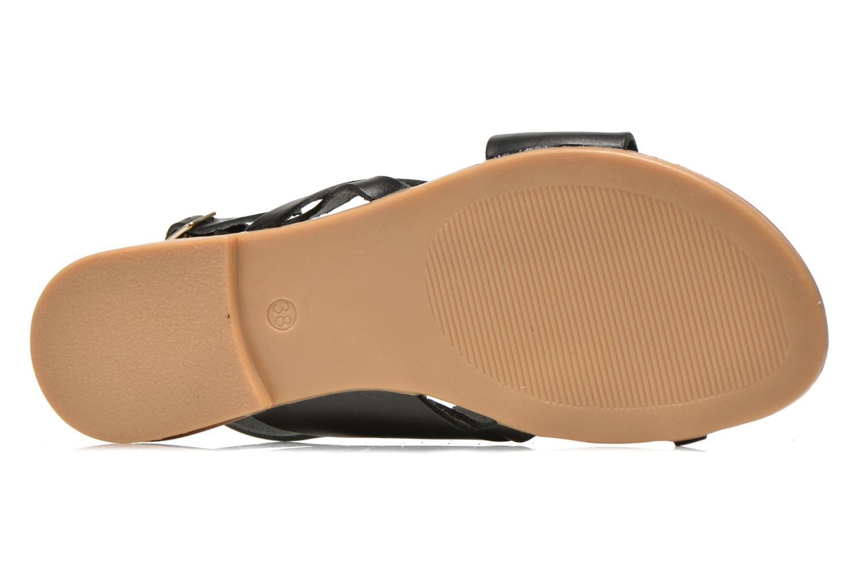 Sandales et nu-pieds Pieces Psjoyce Noir vue haut