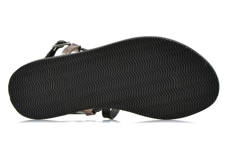 Sandalen Initiale Paris Miro schwarz ansicht von oben