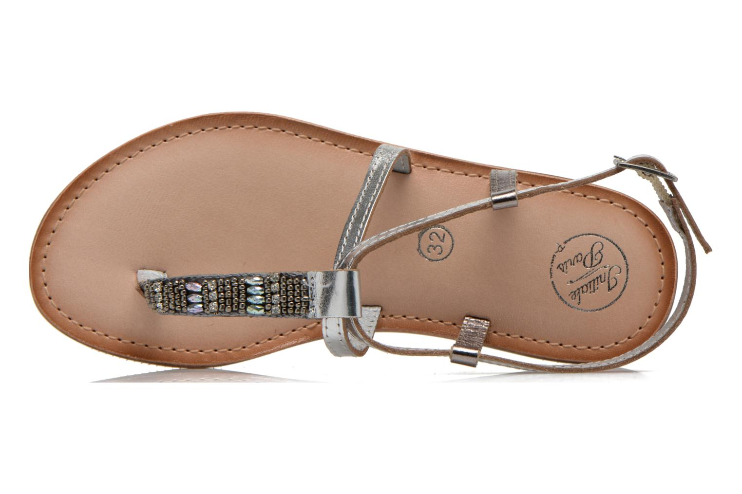 Sandals Initiale Paris Miro Silver view from the left