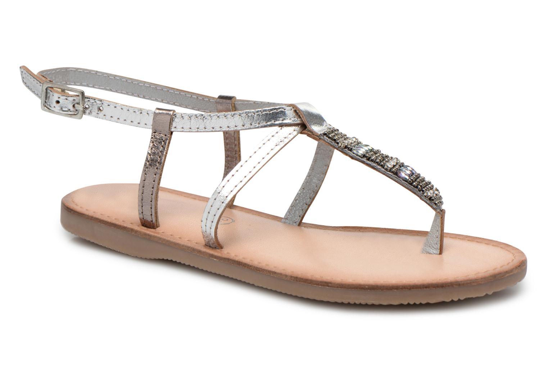 Sandaler Initiale Paris Miro Sølv detaljeret billede af skoene