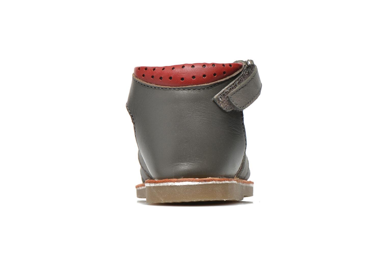 Sandales et nu-pieds Sucre d'Orge Kawan Gris vue droite