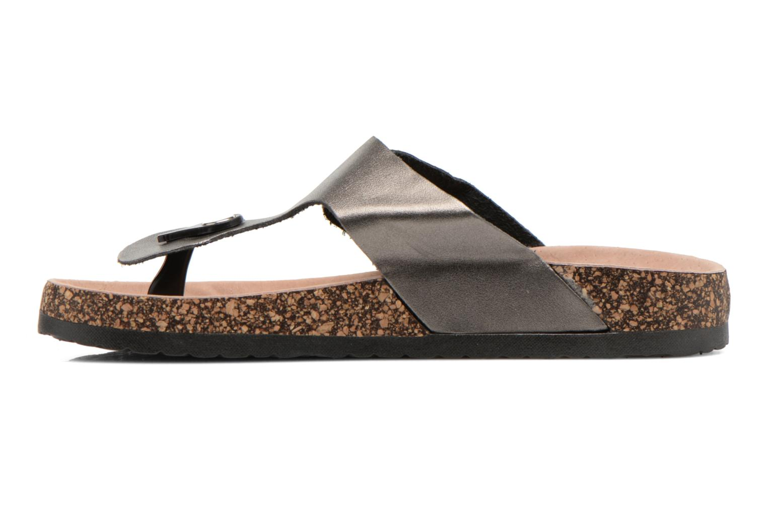 Flip flops I Love Shoes Kirtui Bronze and Gold front view