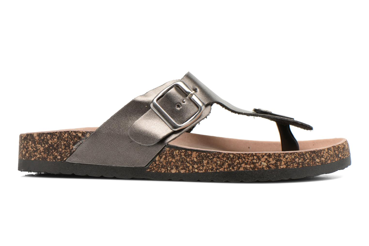 Flip flops I Love Shoes Kirtui Bronze and Gold back view