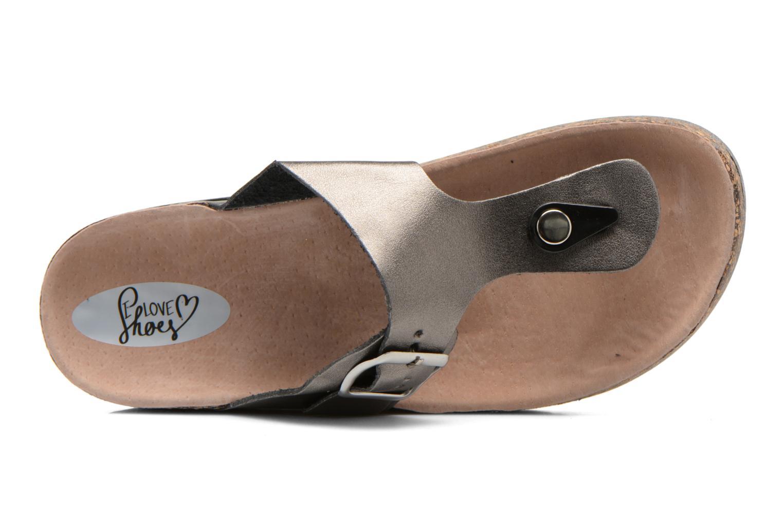Sandalias I Love Shoes Kirtui Oro y bronce vista lateral izquierda