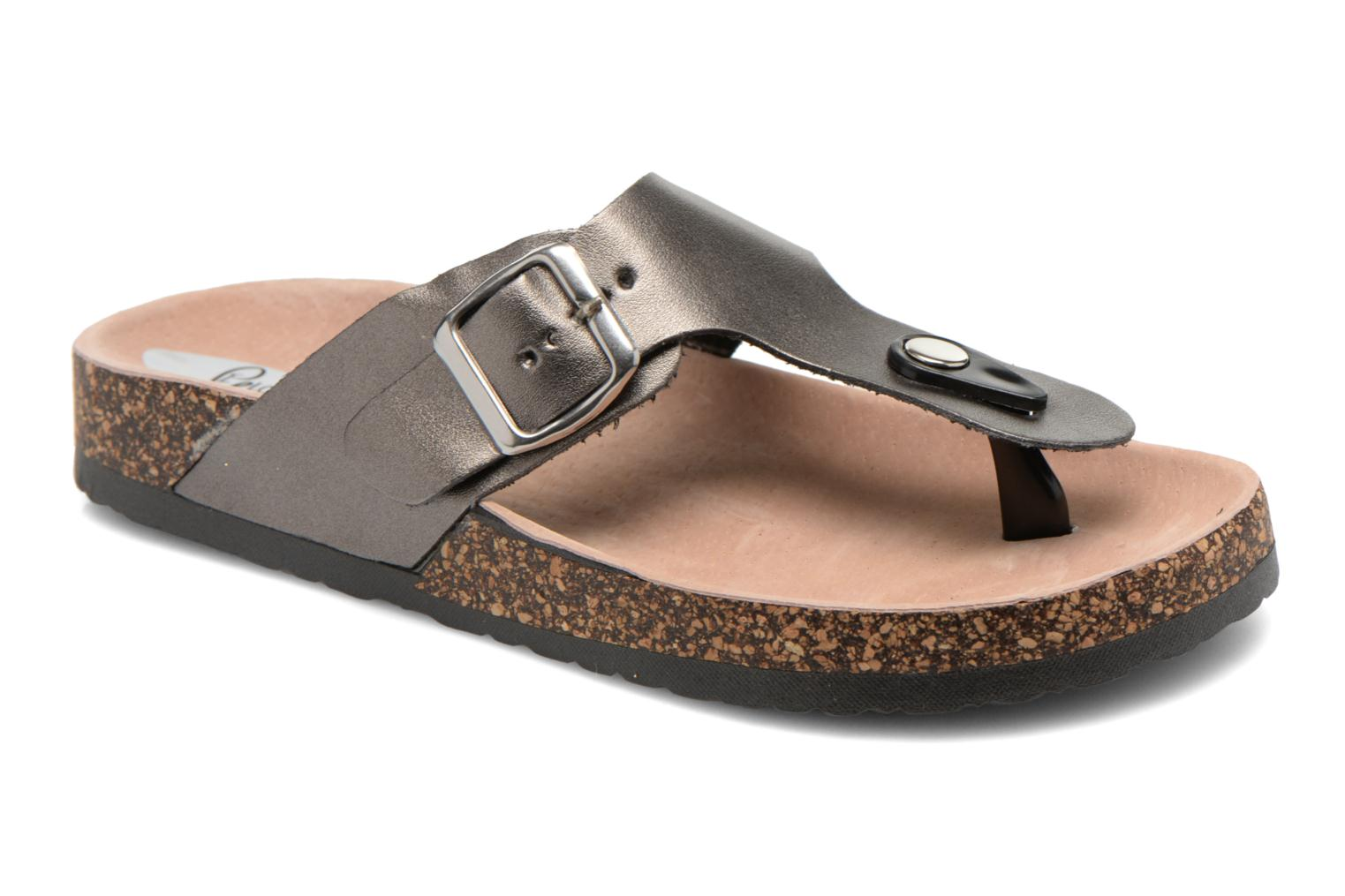 Sandals I Love Shoes Kirtui Bronze and Gold detailed view/ Pair view
