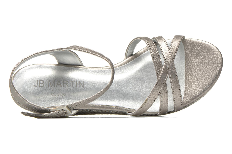 Sandales et nu-pieds JB MARTIN Denise Gris vue gauche