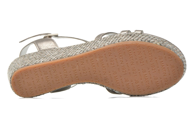 Sandales et nu-pieds JB MARTIN Denise Gris vue haut