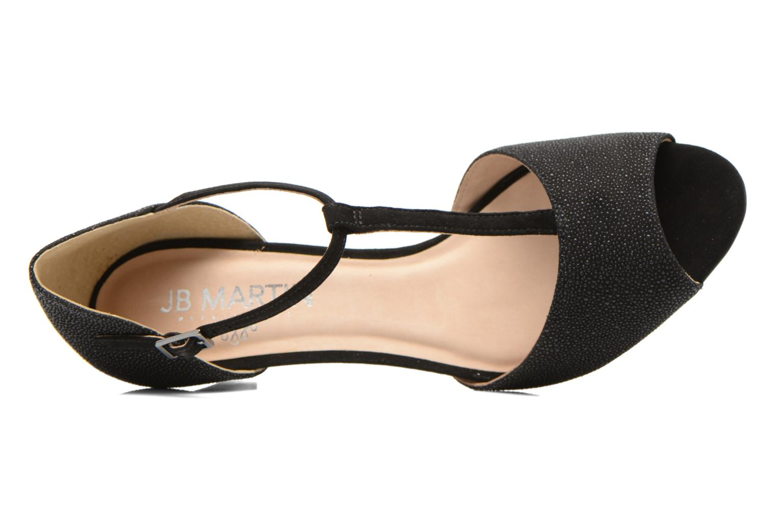 Sandals JB MARTIN Eclair Black view from the left