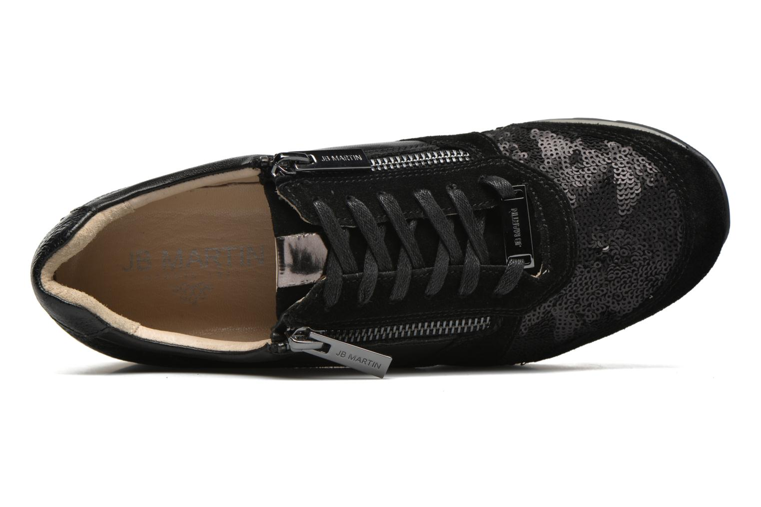 Trainers JB MARTIN 1Veri Black view from the left