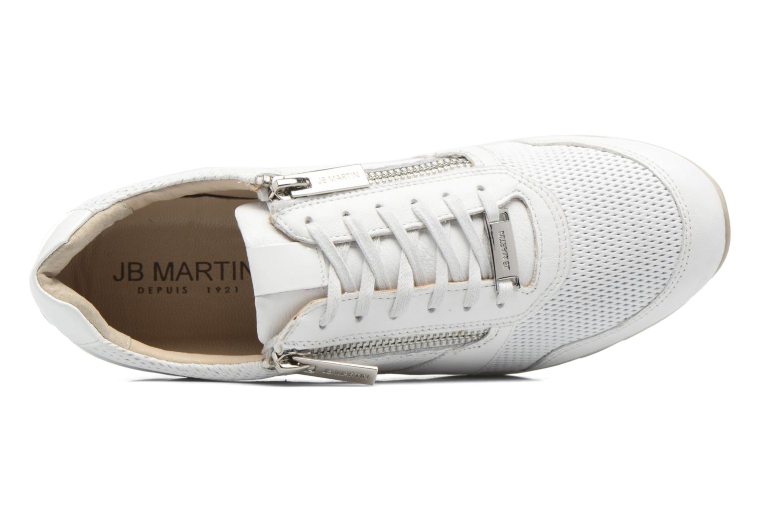 Trainers JB MARTIN 1Veri White view from the left