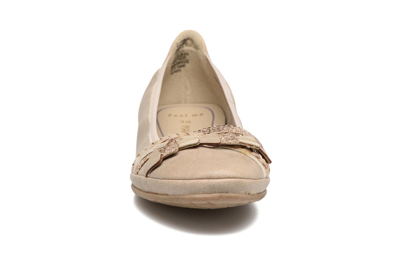 Ballerinas Marco Tozzi Kilina beige schuhe getragen