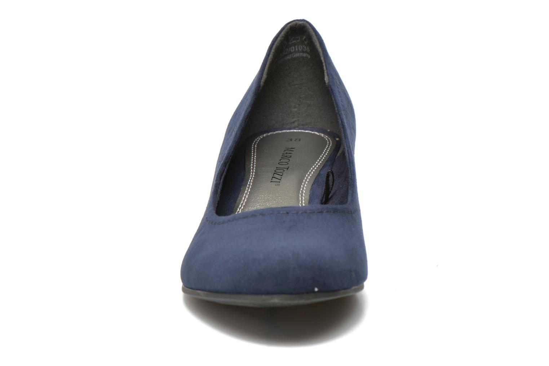 Escarpins Marco Tozzi Imit 2 Bleu vue portées chaussures