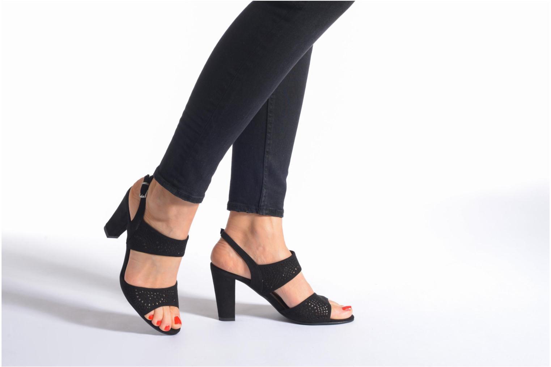 Sandales et nu-pieds Marco Tozzi Cavana Noir vue bas / vue portée sac