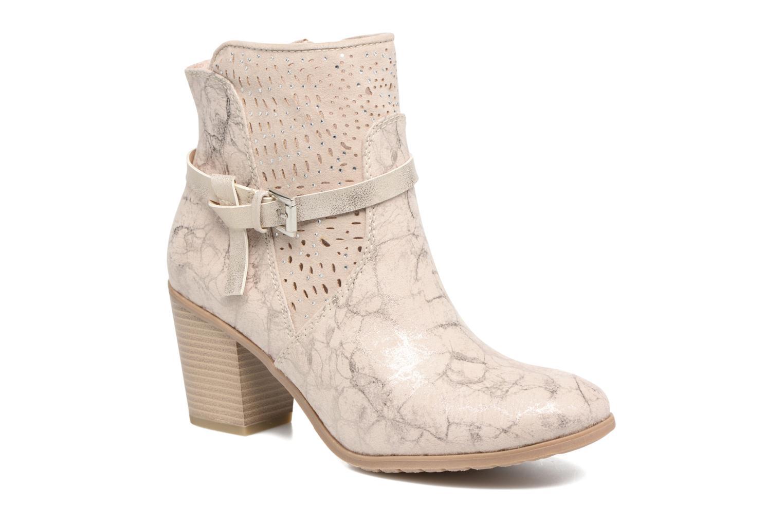 Ankelstøvler Marco Tozzi Cipaka Beige detaljeret billede af skoene