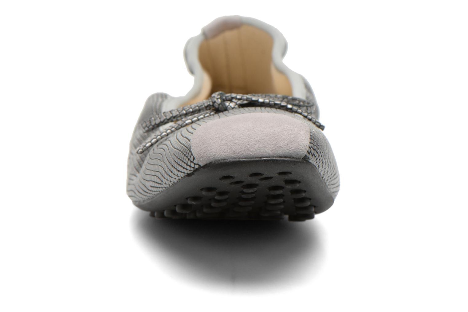 Ballerines Elizabeth Stuart Lacq 940 Gris vue portées chaussures