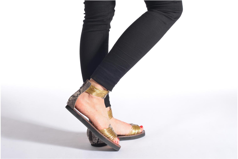 Sandales et nu-pieds Elizabeth Stuart Pexy 871 Or et bronze vue bas / vue portée sac