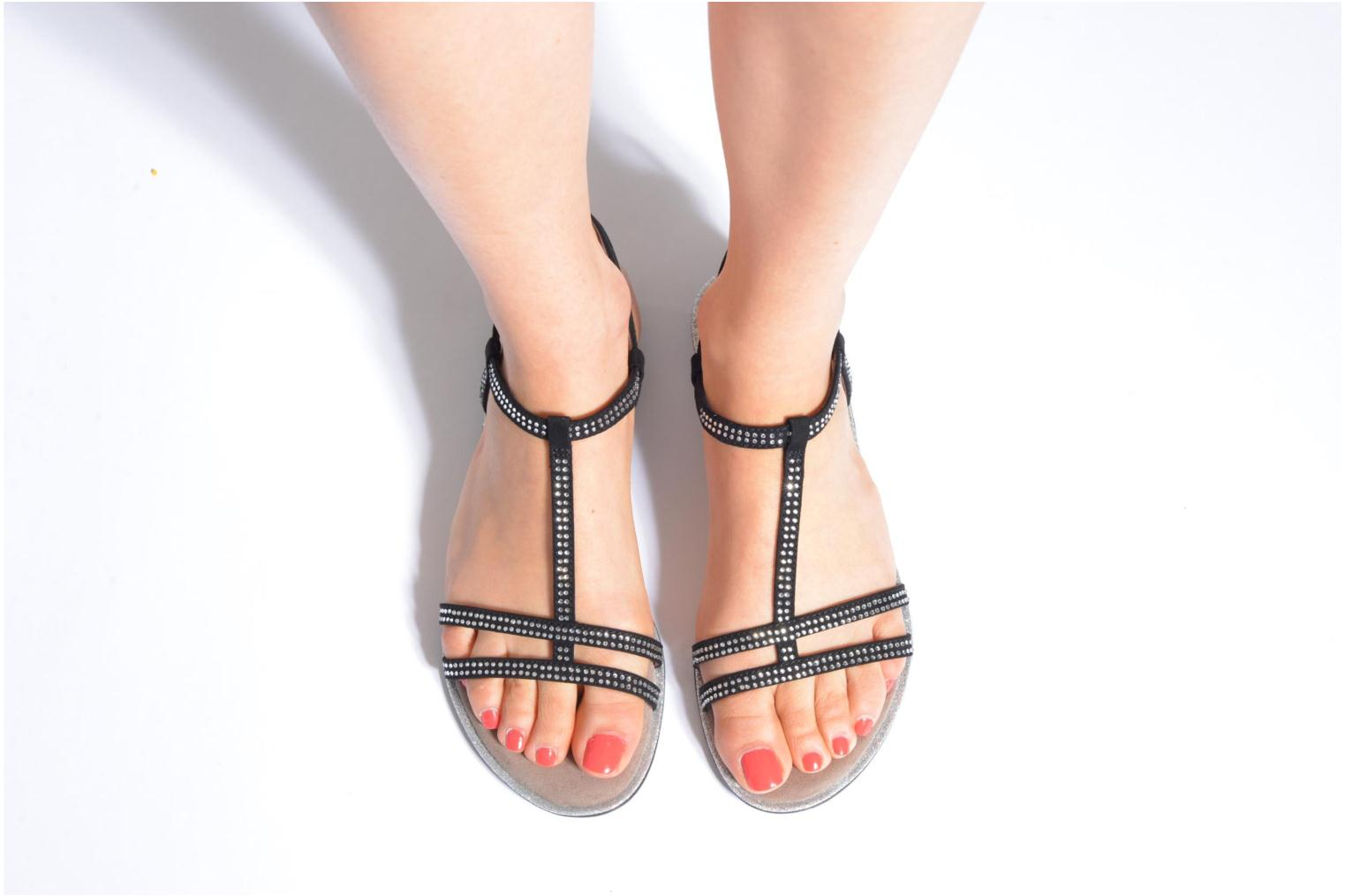 Sandals Tamaris Lubela Black view from underneath / model view