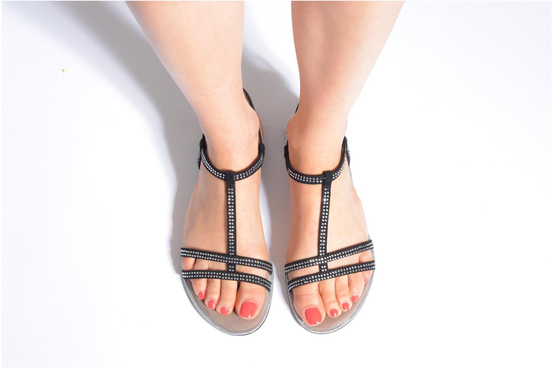 Sandales et nu-pieds Tamaris Lubela Noir vue bas / vue portée sac